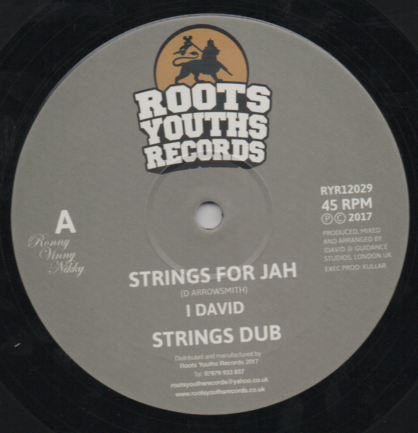 I David - Strings for Jah / Strings Dub / I David - Until Next Time (Roots Youths) UK 12""