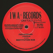 I Warriyah - Clash Of The Titans / dub / I Warriyah / Dub (IWA Records) UK 10""