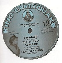 Winston Fergus - Sing Glory / Dub / A Vision / Dub (King Earthquake) UK 12