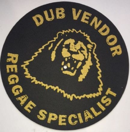 Dub Vendor Reggae Specialist Slipmat (Black background Gold print)