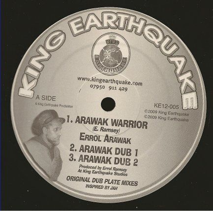 Errol Arawak - Arawak Warrior / dub 1 / dub 2 / Kings Robe / dub (King Earthquake) UK 12
