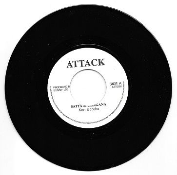 Ken Boothe - Satta Massagana / I.Roy - Satta Massagana (Attack) UK 7""