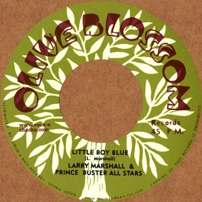 Larry Marshall - Little Boy Blue / Ernest Ranglin - Come Get With Me (Olive Blossom / Rock A Shacka) JPN 7""