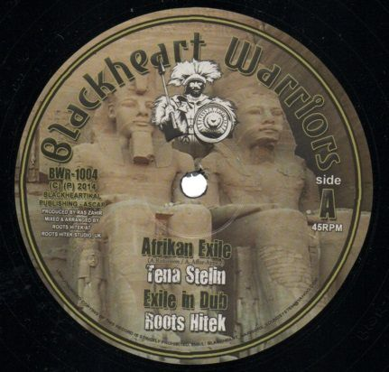 SALE ITEM - Tena Stelin - Afrikan Exile / Roots Hitek - dub / Tena Stelin - Return To Glory / Roots Hitek - Sankofa Dub (Blackheart Warriors) US 10""